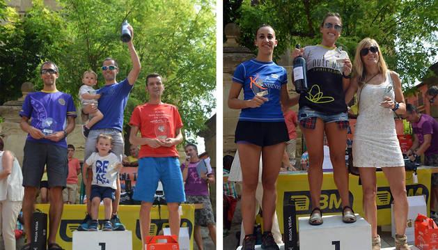 Asier Martínez -izq.-, el más rápido en la prueba reina; y Rebeca Villamor - dcha.-, la mejor en disciplina femenina.