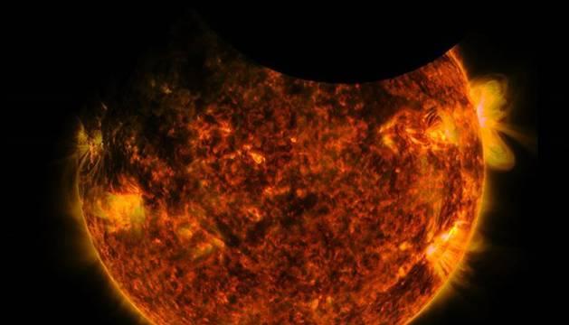 La Tierra y la Luna se cruzaron por delante del Sol