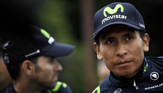 Nairo Quintana en una concentración del Movistar Team.