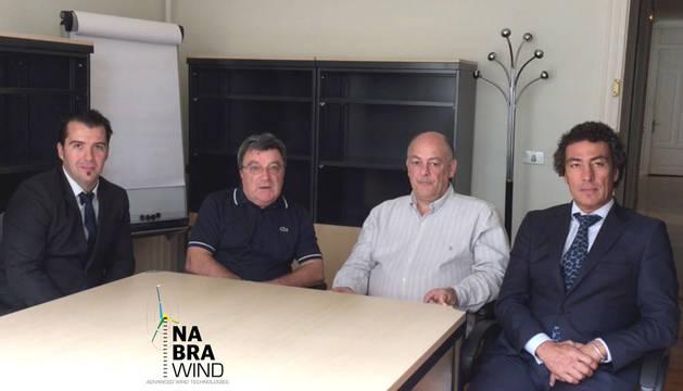 Odilon Camargo, Hely Ricardo Savio, Iñaki Alti Barbón y Eneko Sanz Pascual, promotores de Nabrawind Technologies.