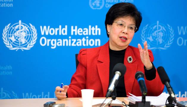 La directora general de la Organización Mundial de la Salud, Margaret Chan,