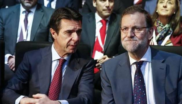 José Manuel Soria, junto a Mariano Rajoy.