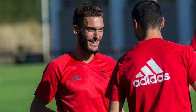 Roberto Torres, en un entrenamiento.