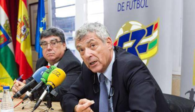 El presidente de la Federación Española de Fútbol (RFEF), Ángel María Villar.