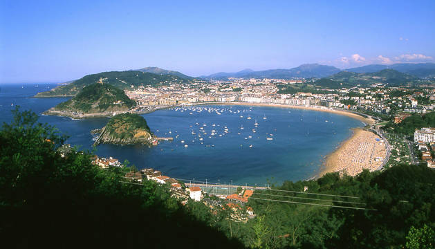 Bahía de La Concha, en San Sebastián.