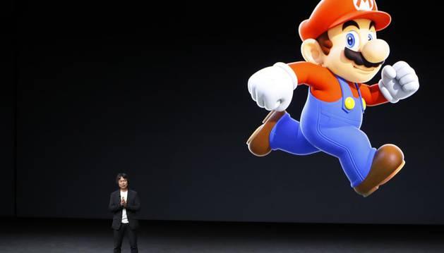 Presentación de 'Super Mario Run' en el evento de Apple.