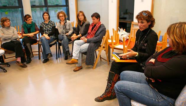 Una charla sobre educación sexual en un colegio de Navarra.