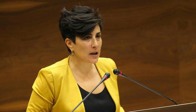 María Solana, nueva portavoz del Gobierno foral.