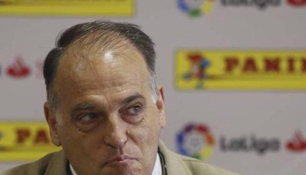 Javier Tebas, durante un acto de LaLiga.