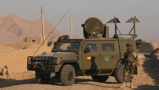 Un vehículo 'Lince' del Ejército español.