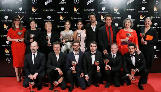 Los premiados de la tercera edición de los Premios Feroz.