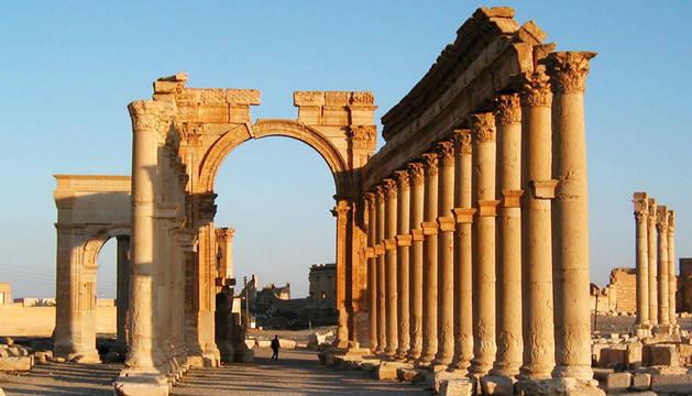 Las ruinas romanas de Palmira, años antes de ser destrozadas por Dáesh.