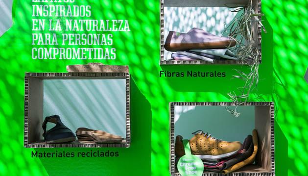 Zapatos realizados con productos veganos en la Feria Momad Shoes.