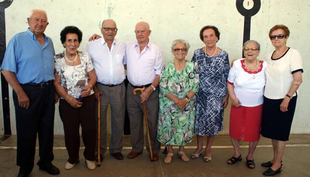 Domingo Clemente, Josefina Jiménez, José Tabuenca, Ángel Martínez, Margarita Alonso, Margarita Ortín, Mª Romero Ruiz y Guadalupe Expósito.