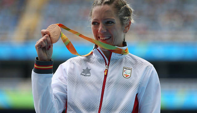 La navarra Izaskun Osés, que padece una discapacidad visual, ha logrado la sexta medalla paralímpica de la delegación española al conquistar el bronce en la prueba de los 1.500 metros clase T13.
