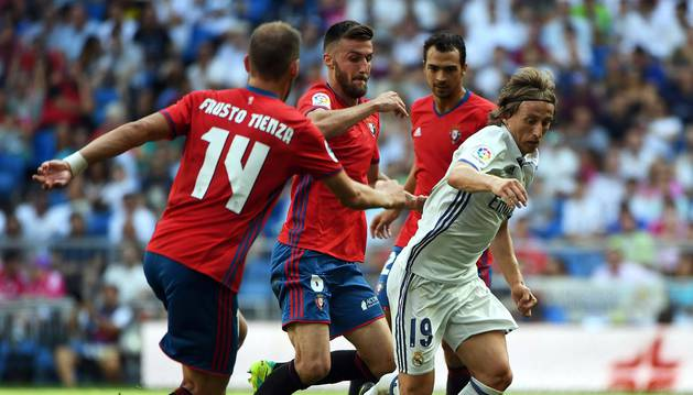 Imágenes del encuentro de la jornada 3 de LaLiga Santander disputado en el Santiago Bernabéu entre Real Madrid y el C.A. Osasuna.