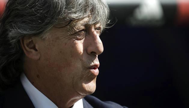 Enrique Martín, en el Bernabéu.