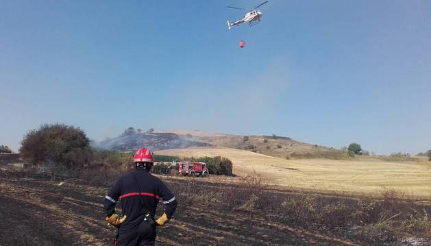 El incendio de Subiza-Galar.