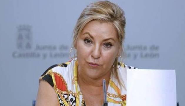 La vicepresidenta y portavoz de la Junta de Castilla y León, Rosa Valdeón.