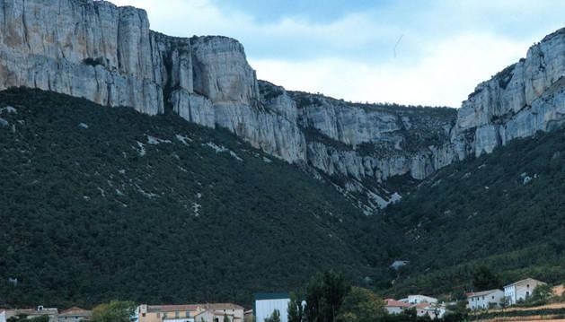 Imagen de Ollogoyen bajo la Sierra de Loquiz, lugar donde se ha producido el suceso.