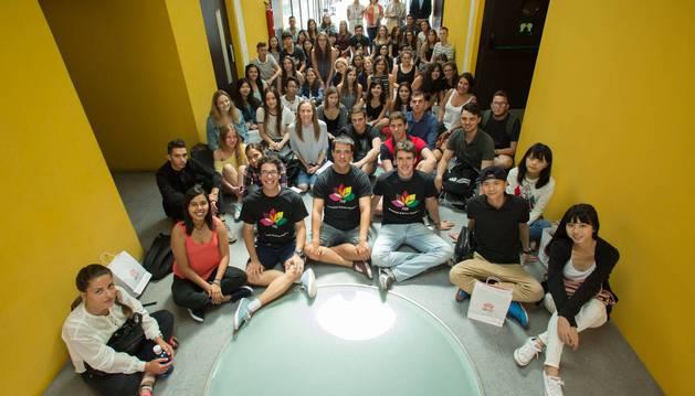 Imagen de los alumnos de intercambio llegados a la UPNA para cursar el primer semestre del año, provenientes de 27 países.