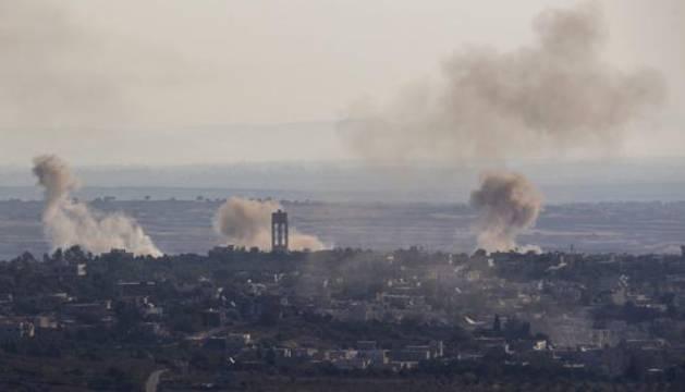 Bombardeos en Siria.