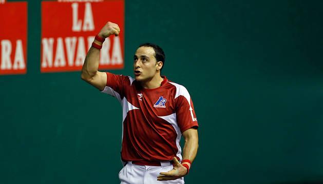 Juan Martínez de Irujo, durante un partido anterior.