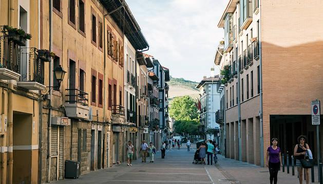 Calle Mayor de Villava.