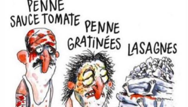 Viñeta publicada por el semanario francés Charlie Hebdo.