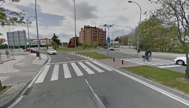 Calle Monte Monjardín, lugar del suceso.