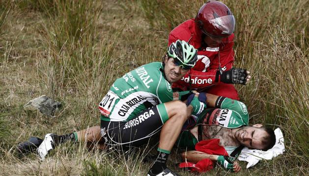 Lluis Mas sufrió  una aparatosa caída en la quinta etapa y abandonó.