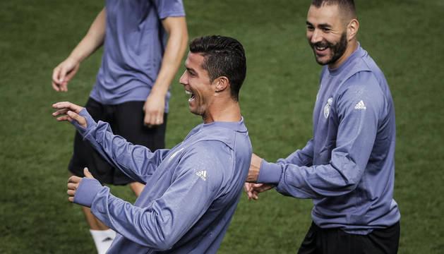 Cristiano Ronaldo y Benzemá.