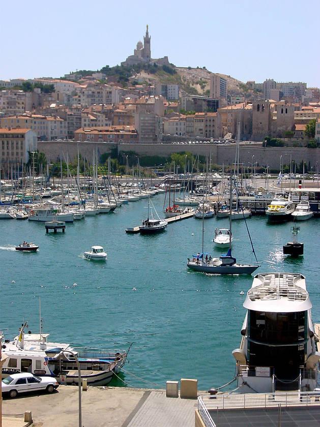 Puerto de Marsella.