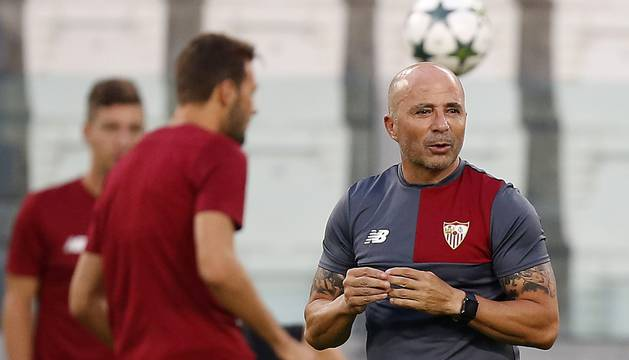 Jorge Sampaoli, entrenador del Sevilla.
