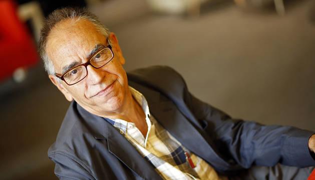 El psicólogo Jaime Funes, nacido en Calatayud (Zaragoza) hace 69 años y vecino de Barcelona, ayer en un hotel de Pamplona.