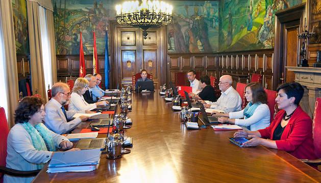 Reunión del Gobierno de Navarra este miércoles.