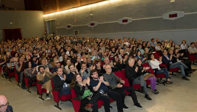 Público en el festival 'Ópera Prima' de Tudela.