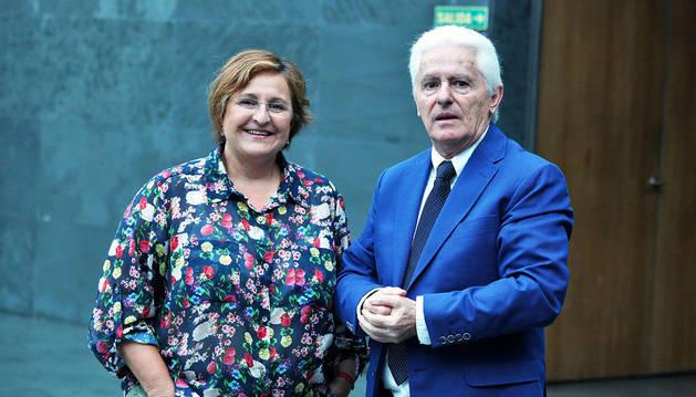 Blanca Aldanondo y Luis Durán, antes de la comparecencia.