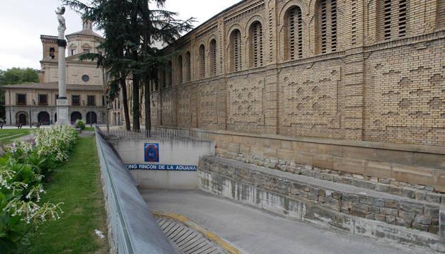 Trasera del edificio de las Salesas, antiguo convento de clausura, en el Rincón de la Aduana.