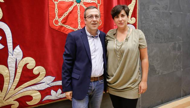Rafael Eraso y María Solana.