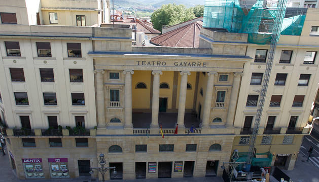 Fachada del Teatro Gayarre.