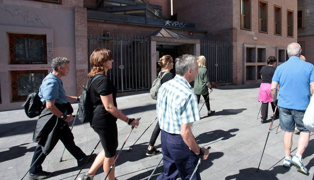 Marchas nórdicas en Pamplona