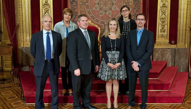 La directora general Izaskun Goñi recibió a la delegación de Nevada.