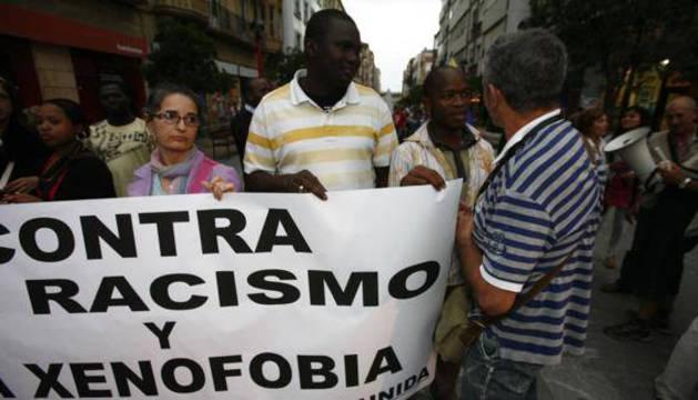 Concentración contra el racismo y la xenofobia.
