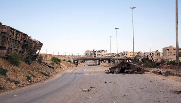 La carretera del Castillo, la principal ruta para llevar ayuda humanitaria a Alepo, Siria.