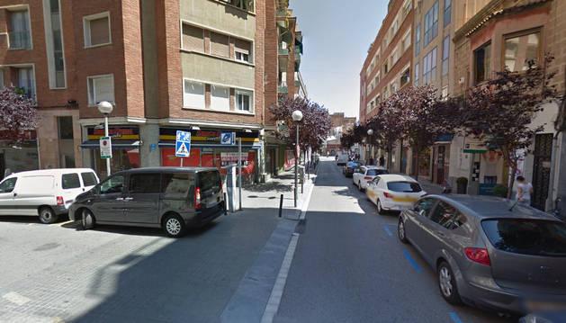 Calle Francesc Layret, lugar del suceso.