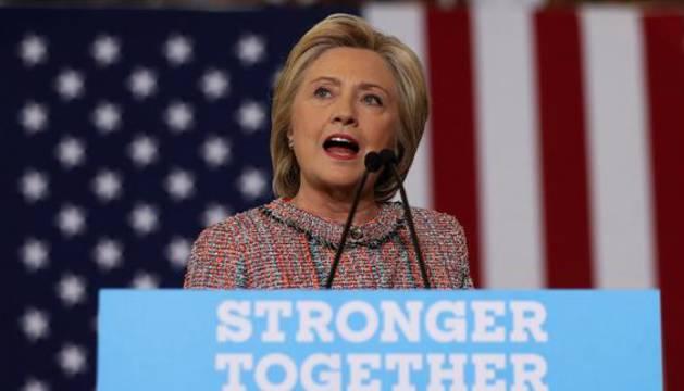La aspirante demócrata a la Casa Blanca, Hillary Clinton.
