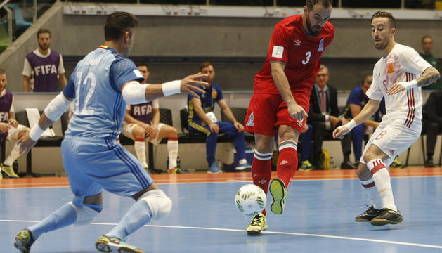 España vence a Azerbaiyán y pasa a los octavos de final del Mundial de Futsal
