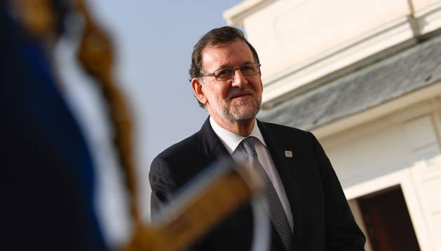 El presidente del Gobierno español, Mariano Rajoy, en Bratislava.