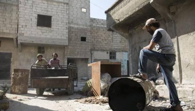 Un barrio de Alepo.